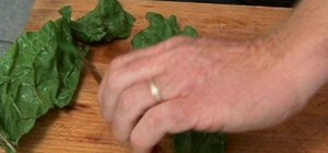Remove the ribs of leafy greens without a knife
