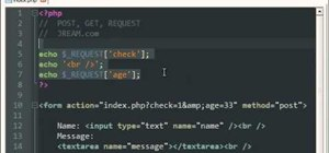 Use post, get and request superglobal variables in PHP programming