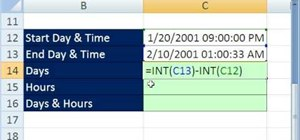 Calculate days with Microsoft Excel's INT function