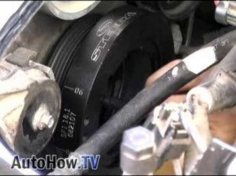 Install underdrive pulleys in a 4.6L Mustang