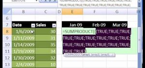 Count dates within a given month in Microsoft Excel