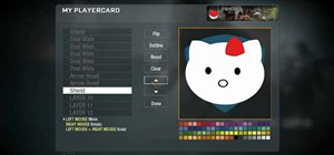 Create a custom Hello Kitty playercard emblem in Call of Duty: Black Ops