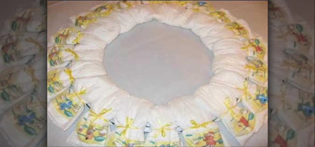 how to make a baby diaper wreath  u00ab baby showers    wonderhowto
