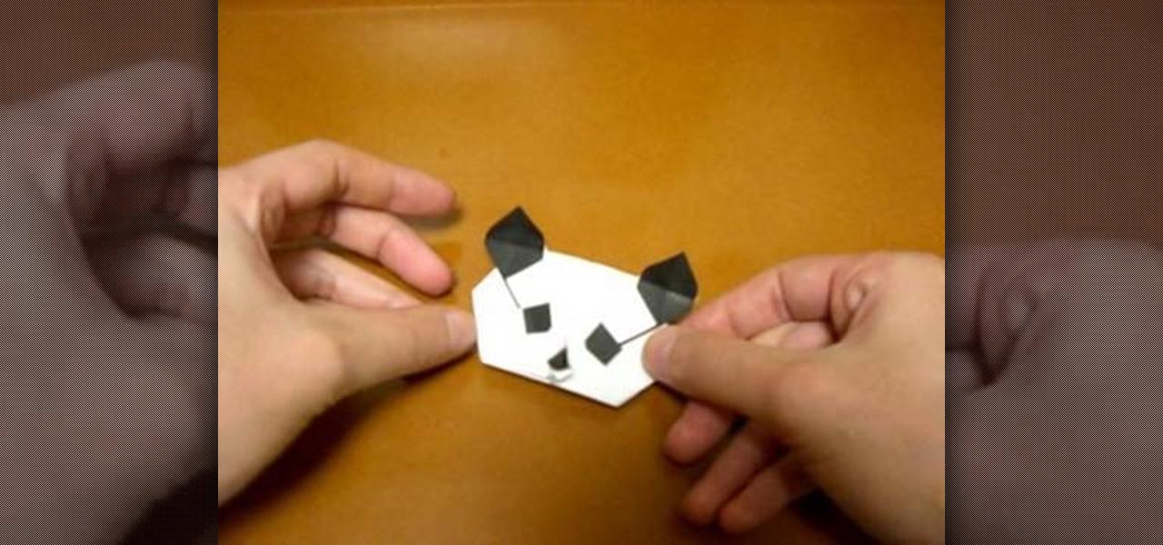 How To Origami A Panda Head WonderHowTo