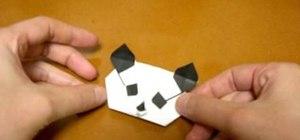 How To Origami A Panda Head