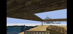 Build a beach house in Minecraft