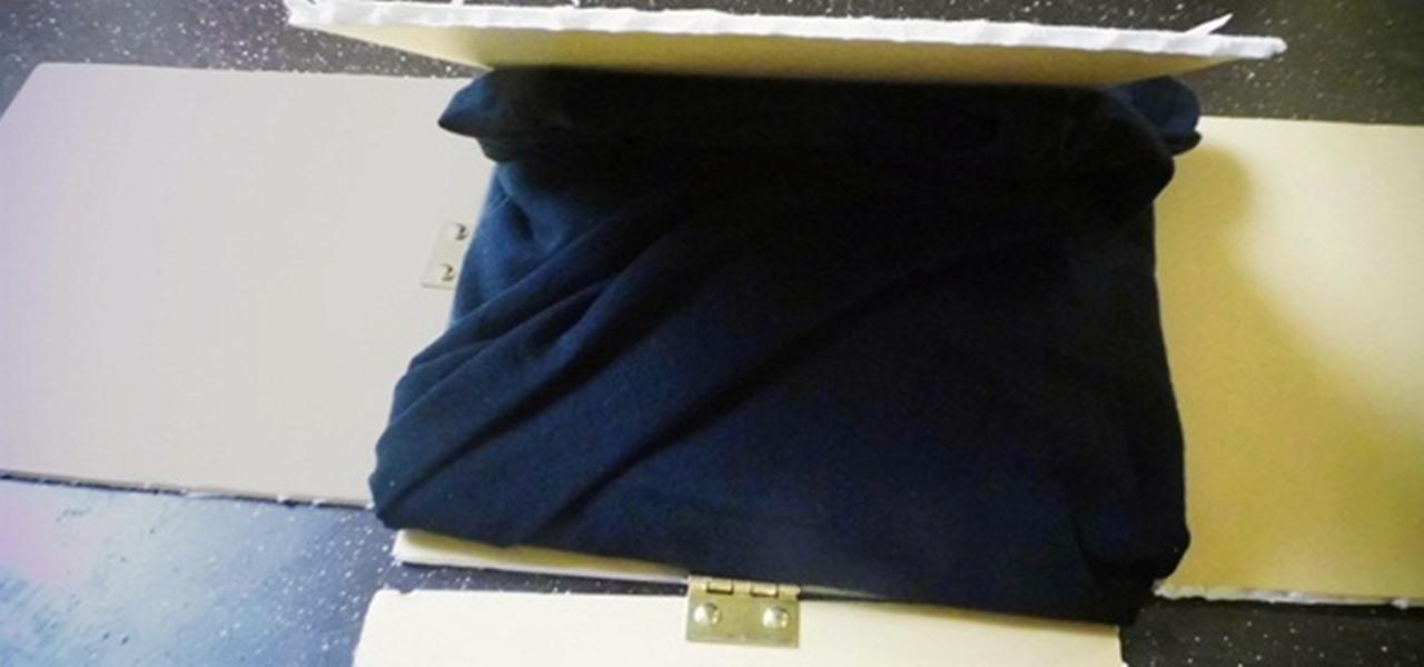 how to make a shirt folder