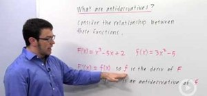 Define an antiderivative in calculus
