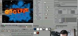 Create custom 3D title text with Cinema 4D