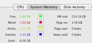 Monitor memory use in Mac OS X with Activity Monitor