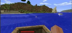 Build a boat and a chest in Minecraft beta 1.6