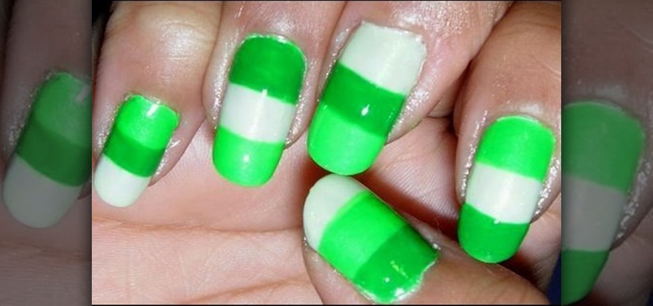 How To Create A Neon Color Block Nail Art Design Nails Manicure