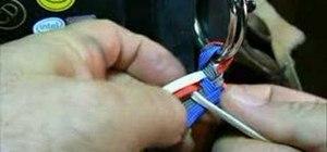 Tie an eight plait round braided whip