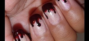 Do Twilight inspired bloody tip French nails for Halloween