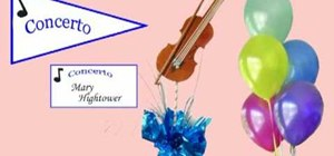 Make a DIY violin music themed party centerpiece