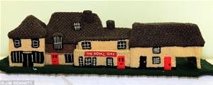 English Ladies Knit Entire Village