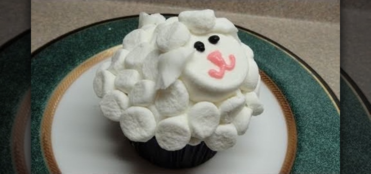 How to Decorate a simple marshmallow sheep cupcake   Cake ...