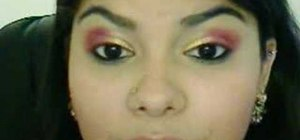 Create a pink and gold Arabian makeup look