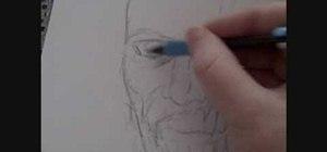Draw a zombie head
