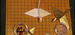 Make an origami hanging crane ornament
