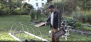 Build a hoop house or cold frame for gardening