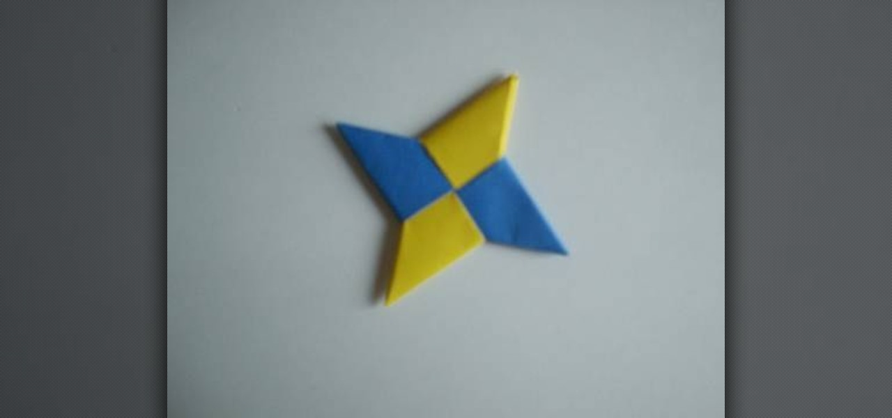 ... to Fold a modular, two-sheet, paper shuriken (ninja star) « Origami