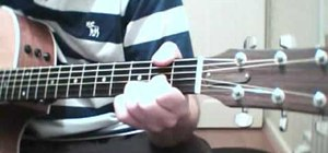 "Play ""Fade Away"" by Oasis on acoustic guitar"