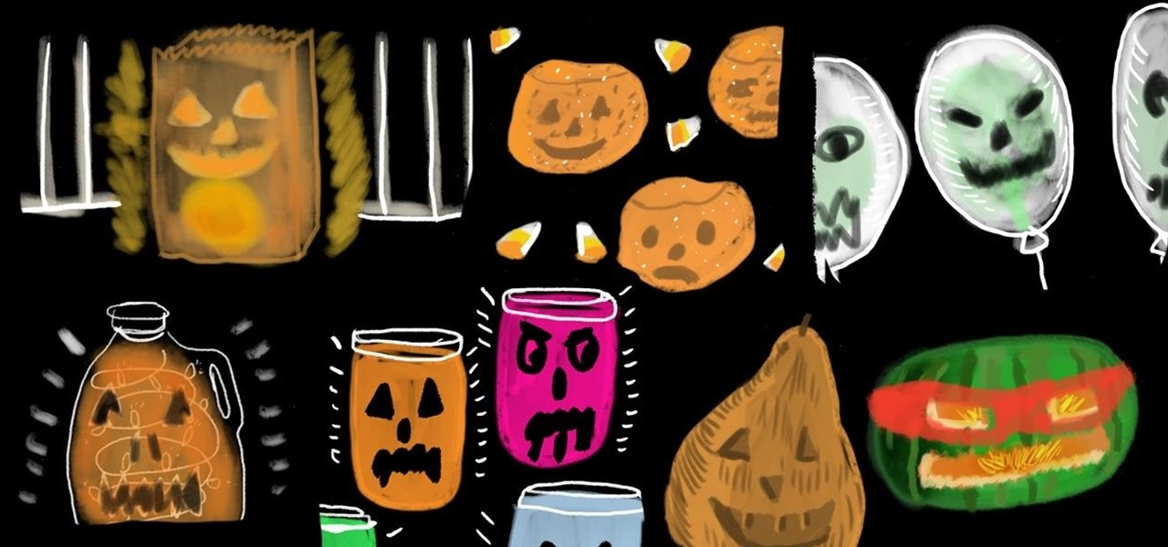 Make Spooky, Last-Minute Jack-O'-Lanterns for Halloween Without Any Pumpkins