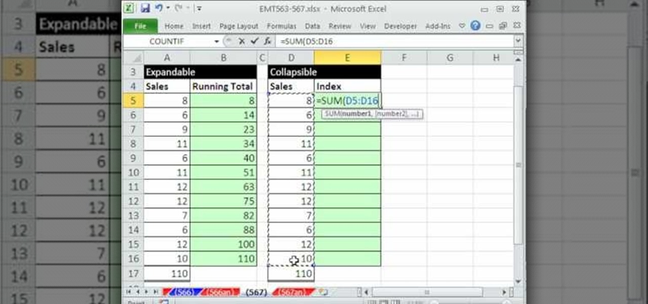 how to make create sub cells on excel