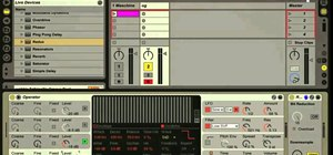 Create a wobble bass effect with Ableton Live and Operator