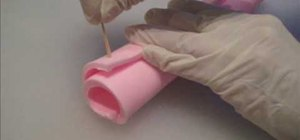 Make soap logs and ribbon embeds