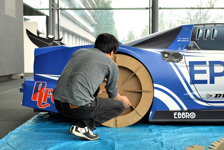 HowTo: Build a Papercraft NSX Super GT Race Car