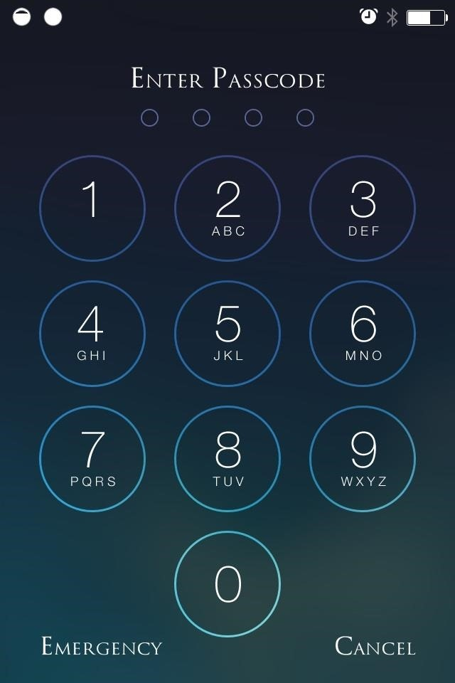 beef up your iphone 39 s passcode security with a blank keypad on your ios 7 lock screen ios. Black Bedroom Furniture Sets. Home Design Ideas