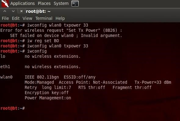 How to Set Your Wi-Fi Card's TX Power Higher Than 30 dBm « Null Byte
