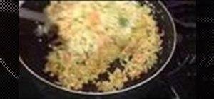 Make Indian style cabbage salad (sambharo)