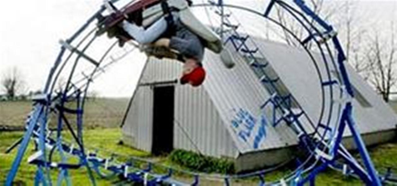 DIY Backyard Roller Coaster Does 360° Loop « Outdoor Games ...