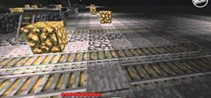 Build a minecart station with redstone in Minecraft