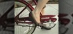 How to Ride a bike wearing high heels
