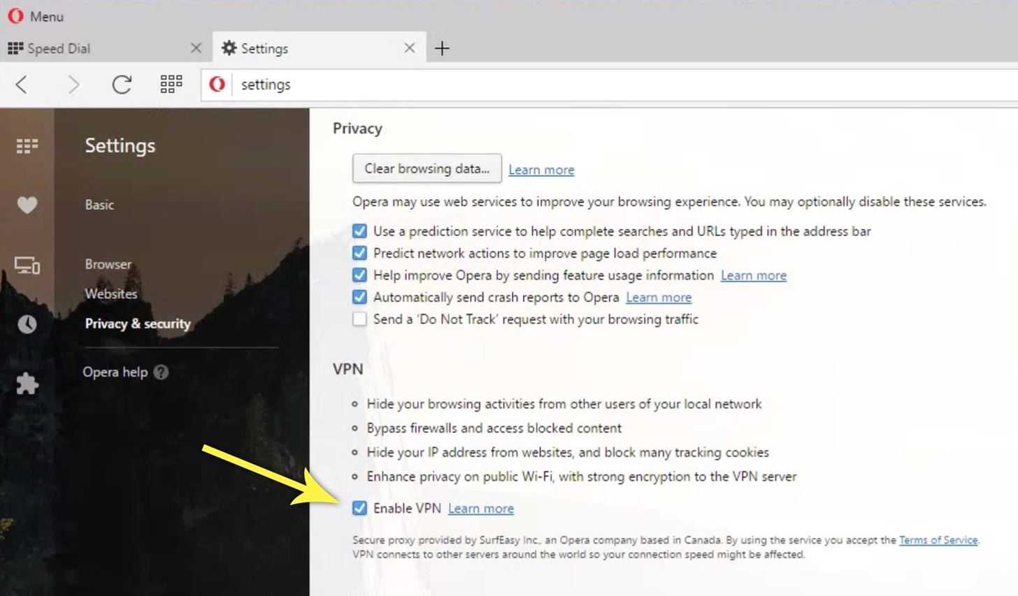 Surf the Web Without Restrictions for Free Using Opera's Hidden VPN