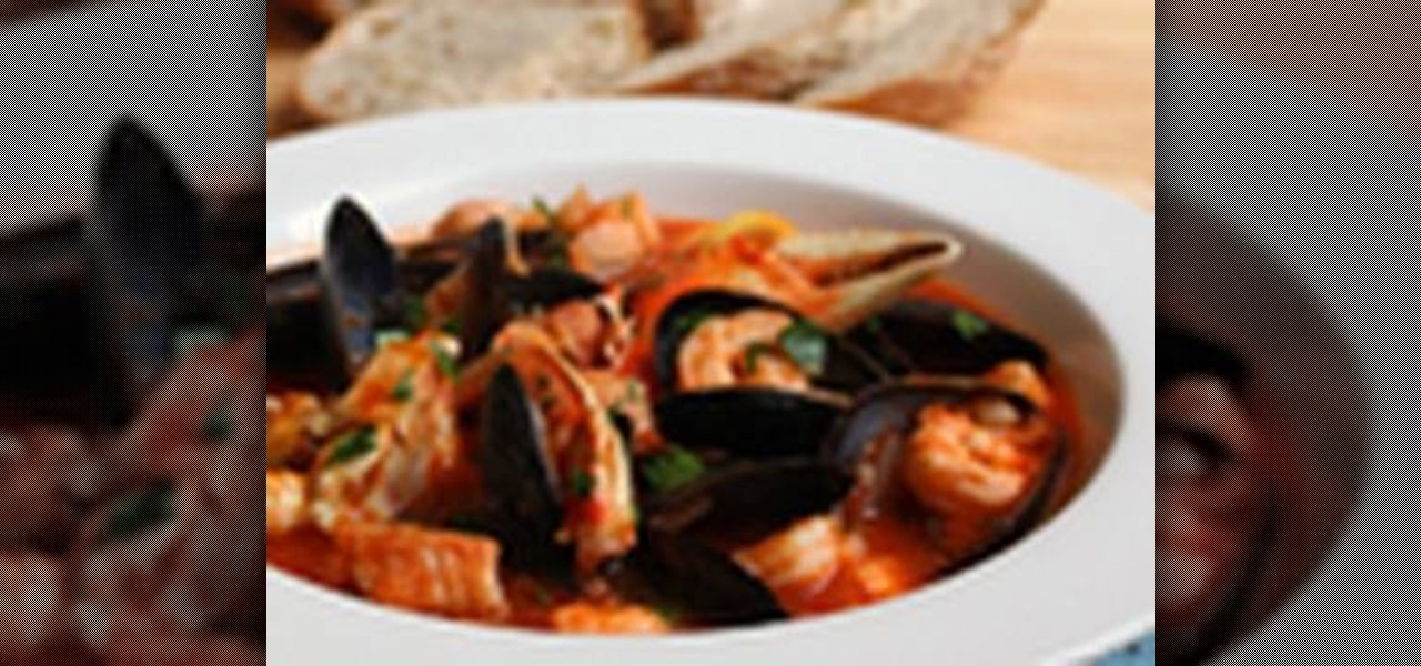 How to make cioppino a spicy fish stew fish wonderhowto for How to make fish stew