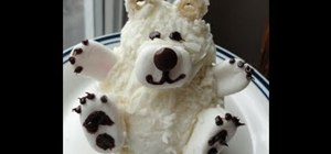 Make an adorable hugable polar bear cupcake