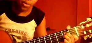"Play ""Lithium"" by Evanescence on guitar"