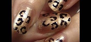 "Paint Pixie Lott from ""Mama Do"" leopard print nails"
