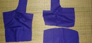 Sew a blouse to match an Indian sari