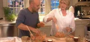 Make carrot bread with Jim Lahey and Martha Stewart