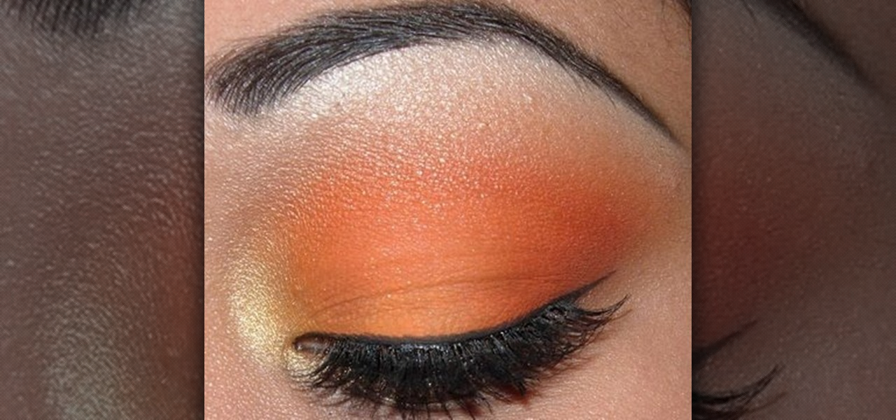 orange eyeshadow makeup