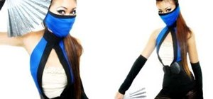 Make a fierce Kitana from Mortal Kombat costume for Halloween