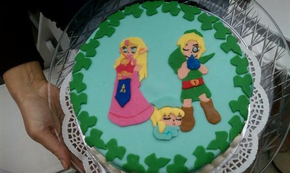 Princess Zelda & Link baby shower cake