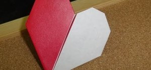 Fold a two color origami Valentine's Day heart