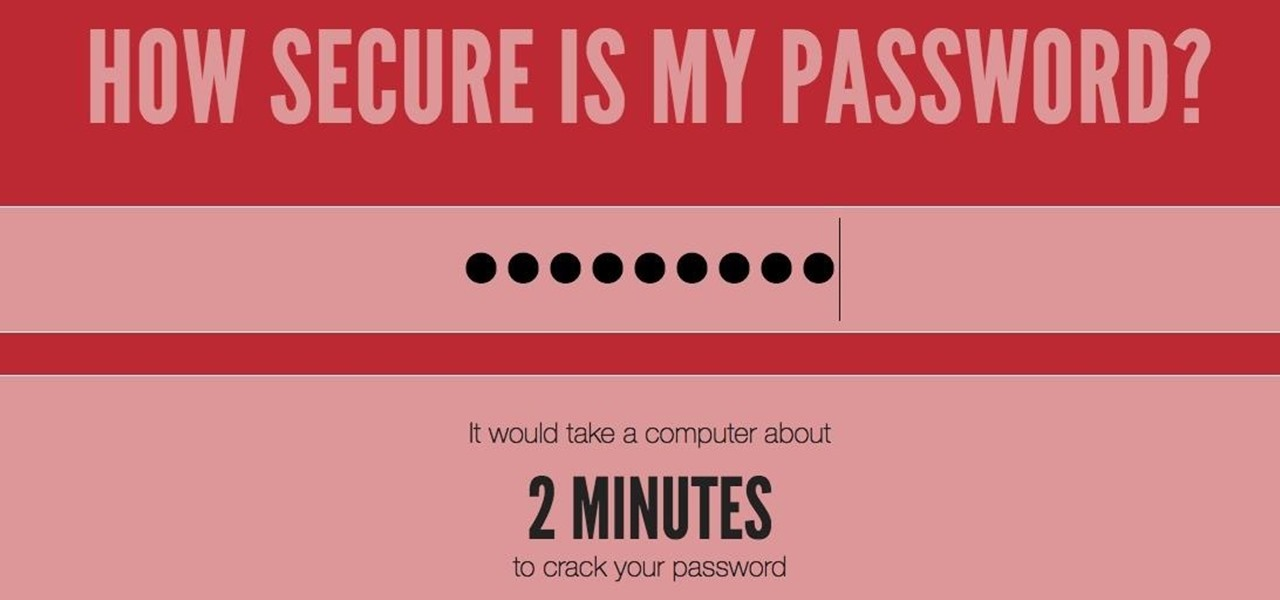 How Long Would It Take to Crack Your Password?